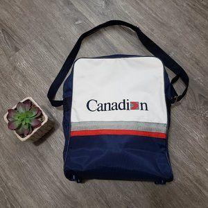 Vintage Canadian Airlines Cross Body Duffel Bag